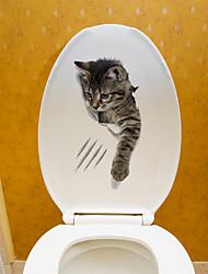 Недорогие -интересные наклейки для туалета животных - наклейки на стену для животных