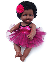 cheap -Reborn Doll Girl Doll Baby Girl African Doll 20 inch Silicone - lifelike Cute Kids / Teen Kid's Unisex Toy Gift