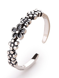 cheap -Women's Open Ring 1pc Silver S925 Sterling Silver Stylish Vintage European Holiday Office & Career Jewelry Classic Flower Shape
