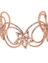 abordables -Manchettes Bracelets Femme Gros Fantaisie Bracelet Bijoux Argent Or Rose Champagne pour Carnaval Soirée Anniversaire Bar
