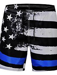 abordables -Homme Basique Noir Shorts de Surf Bas Maillots de Bain - Géométrique Imprimé L XL XXL Noir