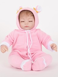 cheap -FeelWind Reborn Doll Girl Doll Baby Girl 18 inch Silicone Vinyl - lifelike Handmade Cute Child Safe Kids / Teen Non Toxic Kid's Toy Gift