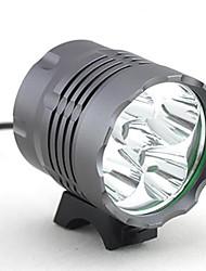 Недорогие -Налобные фонари Велосипедные фары Фары для велосипеда 4000 lm Светодиодная лампа LED 5 излучатели 3 Режим освещения Походы / туризм / спелеология Повседневное использование Велосипедный спорт