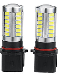cheap -2pcs P13W Car Light Bulbs 5 W 500 lm 33 LED Fog Lights / Daytime Running Lights For universal / Volkswagen / Toyota General Motors All years
