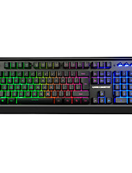 abordables -LITBest GD300 USB filaire Clavier de jeu clavier Multimédia Jeux Lumineux rétro-éclairage multi-couleurs 104 pcs Clés
