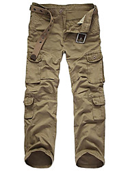 cheap -Men's Hiking Pants Hiking Cargo Pants Camo Winter Outdoor Windproof Durable Wear Resistance Cotton Pants / Trousers Bottoms Black Army Green Camouflage Khaki Coffee Hunting Hiking Multisport M L XL