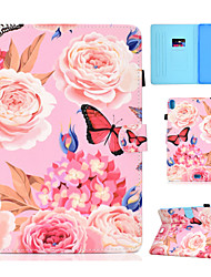 cheap -Case For Apple iPad New Air(2019) / iPad Air / iPad 4/3/2 Card Holder / with Stand / Flip Full Body Cases Flower Hard PU Leather / iPad Pro 10.5 / iPad (2017)