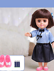 cheap -Girl Doll Fashion Doll Talking Toy Baby Girl 14 inch Silicone - lifelike Smart Remote Control / RC Kids / Teen Kid's Unisex Toy Gift