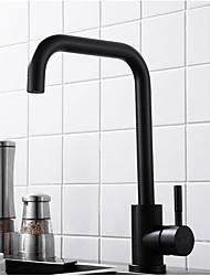 cheap -Water Pressured Kitchen faucet - Single Handle One Hole Standard Spout / Tall / ­High Arc Contemporary Kitchen Taps / Brass