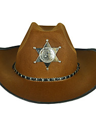 cheap -Westworld West Cowboy Cowboy Costumes Adults' Men's Hat Casual Christmas Halloween Carnival Festival / Holiday Plastics Nonwoven Fabric Black / Coffee Carnival Costumes Stars