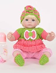 cheap -FeelWind Reborn Doll Girl Doll Baby Girl 18 inch Silicone Vinyl - lifelike Handmade Cute Child Safe Kids / Teen Non Toxic Kid's Unisex Toy Gift