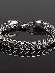 cheap -Men's Chain Bracelet Two tone Twisted Fashion Hip-Hop Hip Hop Steel Stainless Bracelet Jewelry Silver For Daily Office & Career