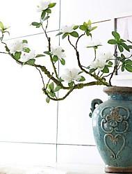 Недорогие -искусственный цветок нерегулярный 1 ветвь номер белый с полиэстером для украшения домашнего офиса вечный настольный цветок классический современный современный стиль