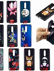 cheap -Case For Nokia Nokia 8 / Nokia 6 / Nokia 5 Pattern Back Cover Butterfly / Owl / Panda Soft TPU