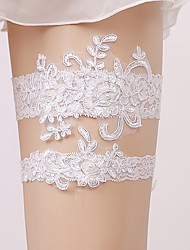 cheap -Lace Bridal Wedding Garter With Pearls / Appliques Garters Wedding / Party