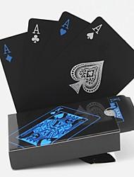 cheap -PVC Poker Waterproof Plastic Playing Cards Set Black Card Sets Classic Magic Tricks Tool Poker Games