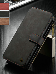 cheap -CaseMe Case For Huawei Huawei Mate 20 pro / Huawei Mate 20 Wallet / Card Holder / with Stand Full Body Cases Solid Colored Hard PU Leather