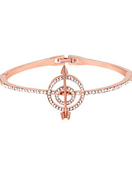 cheap -Women's Bracelet Bangles Classic Simple Rhinestone Bracelet Jewelry Silver / Rose Gold / Champagne For Birthday Bar Festival