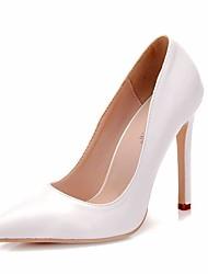 cheap -Women's PU(Polyurethane) Spring &  Fall Classic Wedding Shoes Stiletto Heel Pointed Toe White