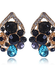 cheap -Women's Stud Earrings Hollow Out Flower Cute Elegant Imitation Diamond Earrings Jewelry Rainbow For Wedding Party 1 Pair