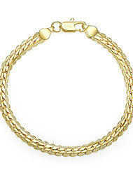 cheap -Men's Women's Chain Bracelet Cut Out Precious Stylish Brass Bracelet Jewelry Gold / Silver For Daily Work / Silver Plated / Gold Plated