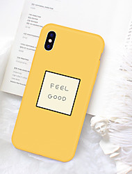 cheap -Case For Apple iPhone XS / iPhone XR / iPhone XS Max Pattern Back Cover Word / Phrase Soft TPU