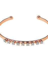 cheap -Women's Cuff Bracelet Classic Simple Rhinestone Bracelet Jewelry Silver / Rose Gold / Champagne For Daily Holiday