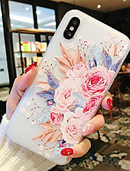 cheap -Case For Apple iPhone XS Max / iPhone X Shockproof / Transparent Back Cover Flower Soft TPU