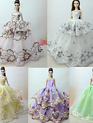 cheap -Doll accessories Doll Clothes Doll Dress Wedding Dress Party / Evening Princess Lolita Wedding Ball Gown Lace Tulle Lace Cotton Blend Silk / Cotton Blend For 11.5 Inch Doll Handmade Toy for Girl's