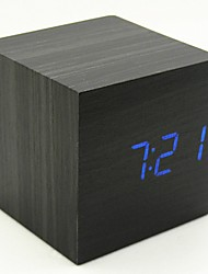 cheap -Alarm clock Digital Wooden LED 1 pcs