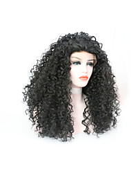 cheap -Synthetic Wig Curly Matte Middle Part Lace Front Wig Medium Length Black#1B Synthetic Hair 18 inch Women's Women Synthetic Easy dressing Black