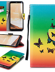 cheap -Case For Samsung Galaxy S8 Wallet / Card Holder / Shockproof Full Body Cases Butterfly Hard PU Leather