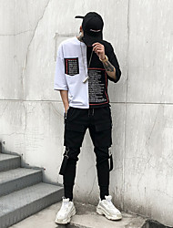 cheap -Men's Street chic / Punk & Gothic Daily Harem / Cargo Pants - Solid Colored Black L XL XXL