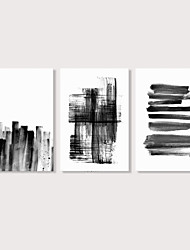 cheap -Print Stretched Canvas Prints - Abstract Modern Modern Three Panels Art Prints
