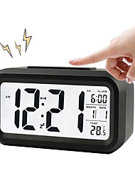 cheap -BRELONG Digital Month Temperature Date Shows Snooze Alarm Clock Night Light