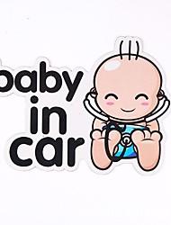 Недорогие -Белый Автомобильные наклейки Юмор Наклейки для автомобилей / Обрезка окон Персонажи Стикеры