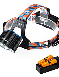 cheap -U'King Headlamps Mini 3000 lm LED LED 3 Emitters 4 Mode with Batteries and Charger Mini Easy Carrying Camping / Hiking / Caving Everyday Use Cycling / Bike / Aluminum Alloy
