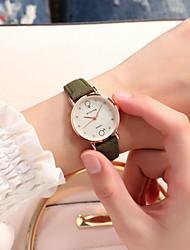 Недорогие -Жен. Нарядные часы Кварцевый Кожа Розовый / Хаки / Цвет клевера обожаемый Аналоговый На каждый день Мода - Кофейный Зеленый Розовый
