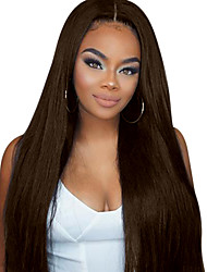 cheap -Remy Human Hair Glueless Lace Front Lace Front Wig Free Part style Brazilian Hair Straight Wig 130% 150% 180% Density with Baby Hair Natural Hairline African American Wig 100% Hand Tied Bleached Knots