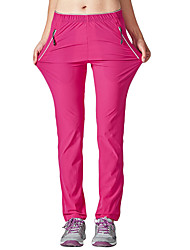 cheap -Women's Hiking Pants Outdoor Waterproof Breathable Quick Dry Stretchy Spring Summer Spandex Pants / Trousers Fishing Hiking Camping Fuchsia Dark Gray Khaki XXL XXXL 4XL