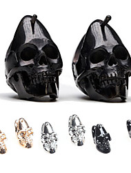 cheap -Vintage Dainty Skulls Hip-Hop Stud Earrings Rock Skeleton Jewelry For Women Men