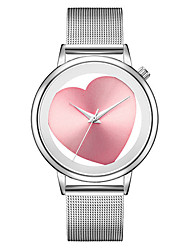 cheap -Women's Dress Watch Digital Stainless Steel Black / Silver / Gold Water Resistant / Waterproof Hollow Engraving Analog Casual Fashion - Black Pink Rose Gold