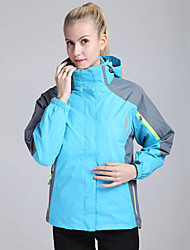 cheap -Women's Hiking 3-in-1 Jackets Winter Outdoor Thermal / Warm Windproof UV Resistant Quick Dry Fleece 3-in-1 Jacket Softshell Jacket Top Camping / Hiking Climbing Orange Green Lavender S M L XL XXL