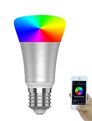 Недорогие -1шт 7 W Круглые LED лампы 600-700 lm E26 / E27 20 Светодиодные бусины SMD 5730 Контроль APP Smart синхронизация RGBW 85-265 V / Диммируемая