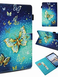 cheap -Case For Samsung Galaxy Tab S4 10.5 (2018) / Tab S2 9.7 / Tab A 9.7 Card Holder / Shockproof / Pattern Full Body Cases Butterfly Hard PU Leather