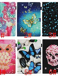 cheap -Case For Samsung Galaxy Tab E 9.6 Wallet / Card Holder / Shockproof Full Body Cases Butterfly / Owl / Skull Hard PU Leather