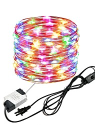 cheap -10M 33Ft 100leds Waterproof Copper Wire lights Fairy String EU US Plug with Switch Direct use AC85-265V