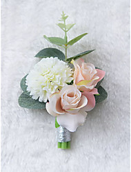 cheap -Wedding Flowers Boutonnieres / Gifts / Unique Wedding Décor Wedding / Ceremony Composite materials / Fabrics 0-10 cm