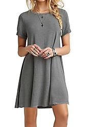 cheap -Women's Daily Basic Sheath Dress - Solid Colored High Waist White Black Gray L XL XXL / Sexy