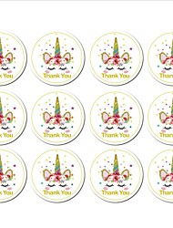 cheap -Unicorn / Wedding / New Baby Stickers, Labels & Tags - 12 pcs Oval Stickers All Seasons